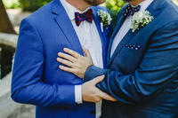 Bild vergrößern: Couple of gay men getting married