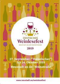 Broschüre Deutsches Weinlesefest 2019